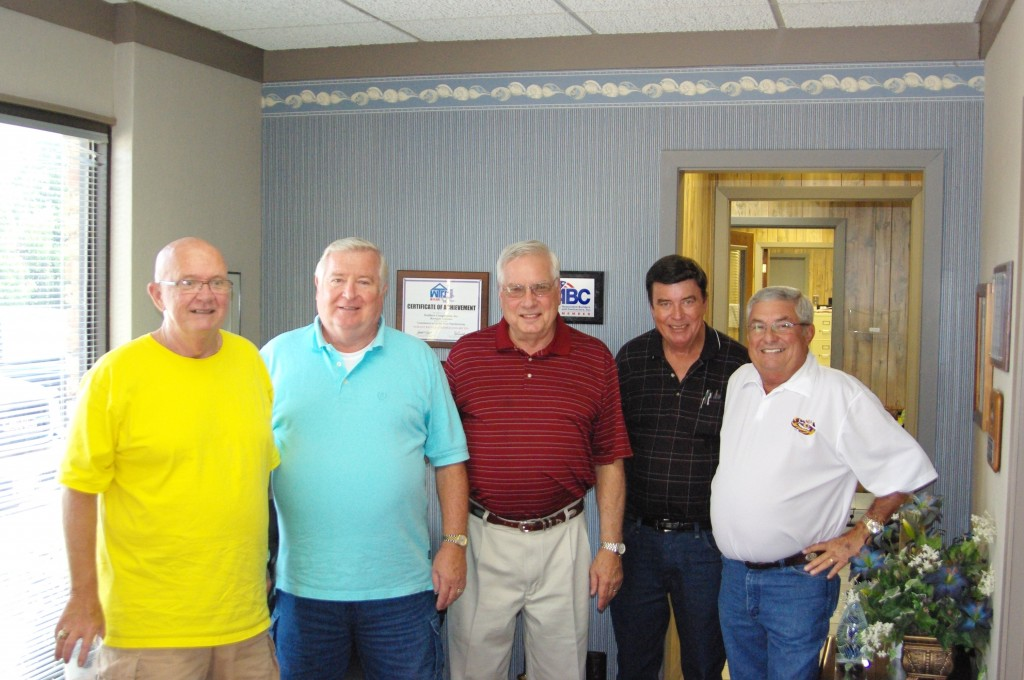 From Left to Right;   Jim Schmidt, Dieter Amidon, Bob Ward (owner), Dave Morris, Jimmie Brossette.